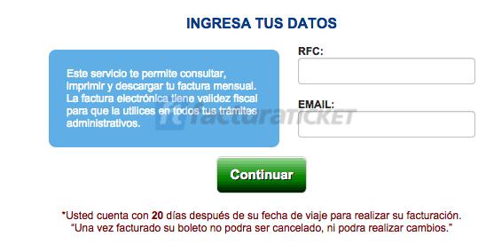 Omnibus de México  Paso 1 – Ingrese al Sistema.