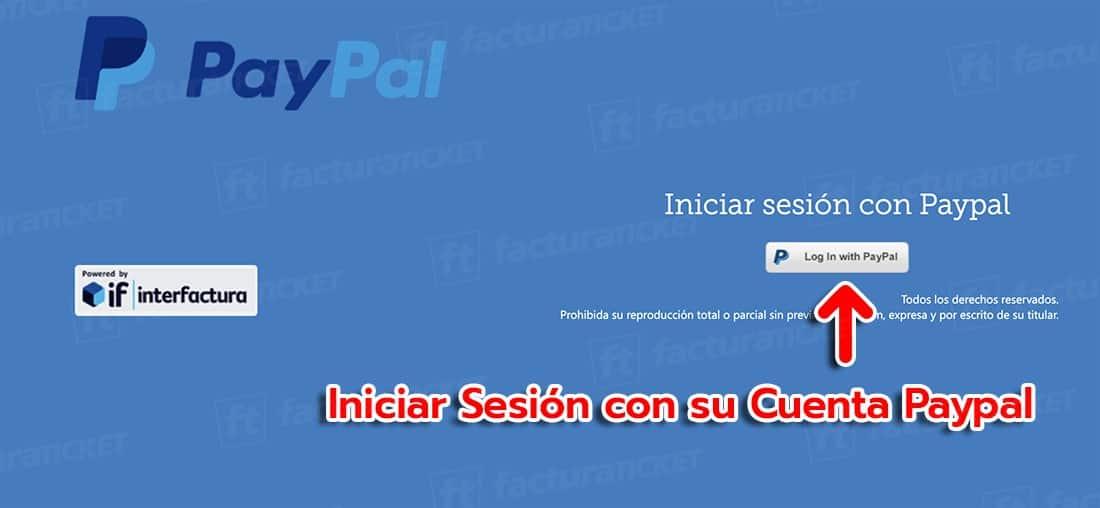 PayPal Paso 1 Inicie sesión en el sistema de facturación