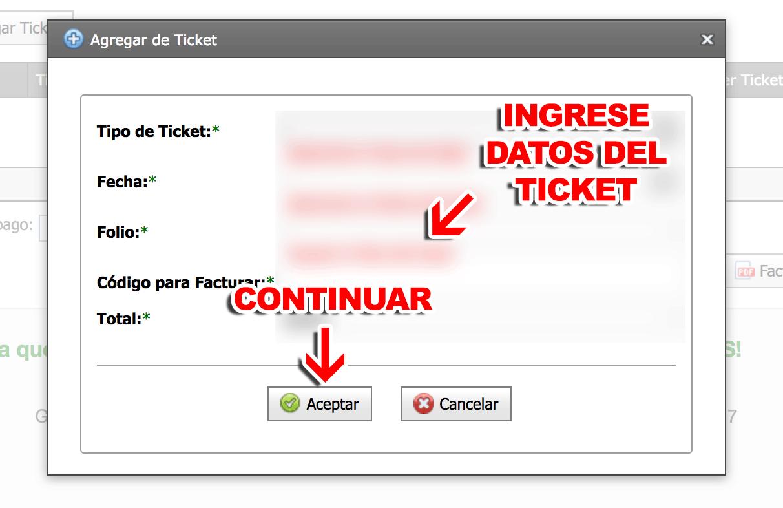 Poligas Paso 4  Ingreso de tickets