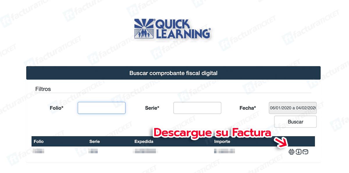 Quick Learning Paso 3  Descarga de factura