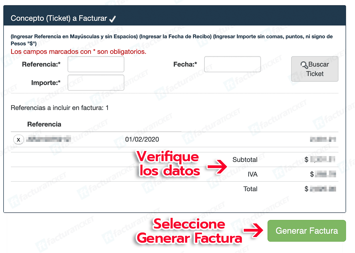 Quick Learning Paso 2  Captura información del ticket