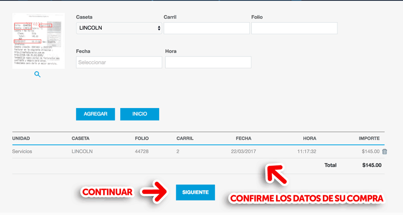 REA Apodaca, Lincoln y Guadalupe  Paso 2  Verificación y captura de datos fiscales.