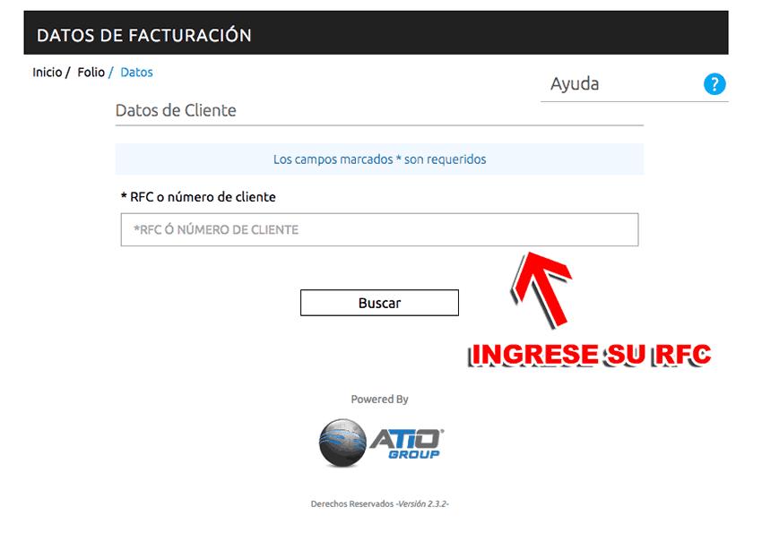 Repsol México Paso 3  Capture los datos de su RFC.