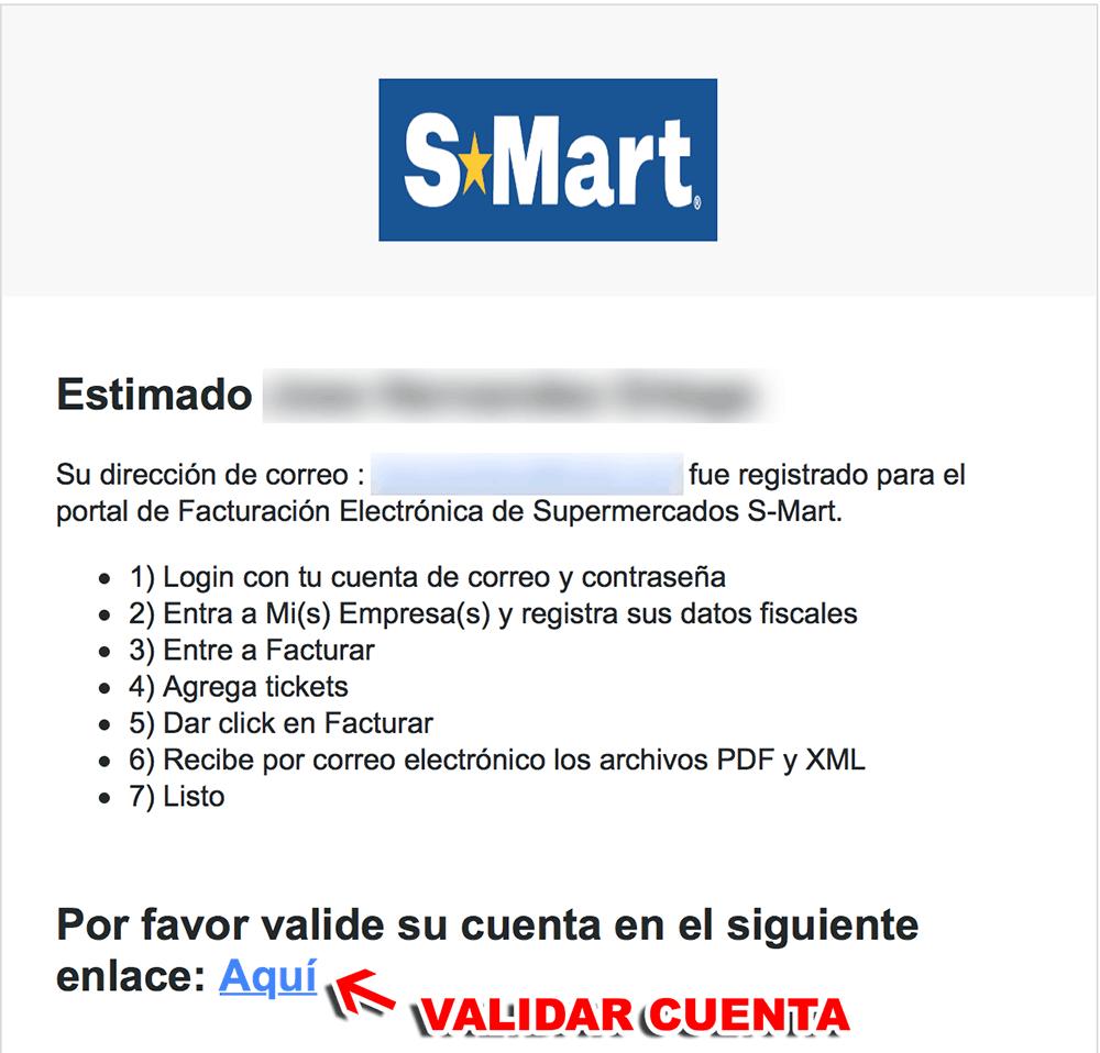 S-MART Paso 1  Registro en el sistema