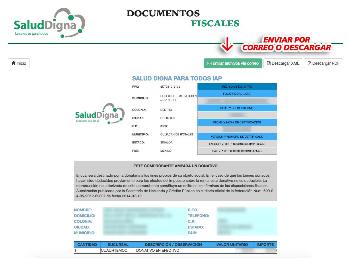 Salud Digna Paso 3  Descarguesu factura.