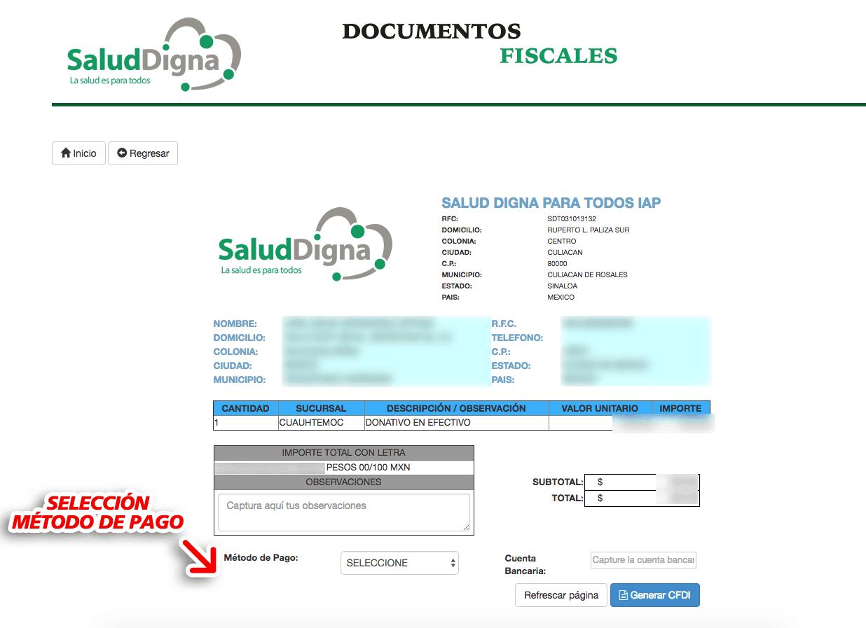 Salud Digna Paso 2  Capture Datos de RFC