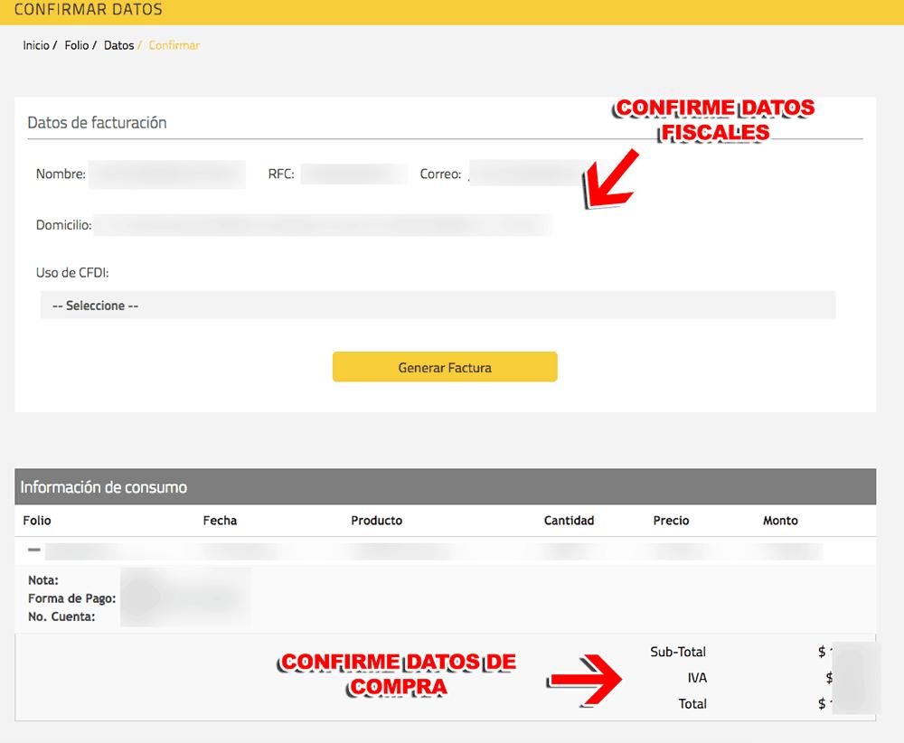 Shell Paso 4  Confirme sus datos y descargue su factura.