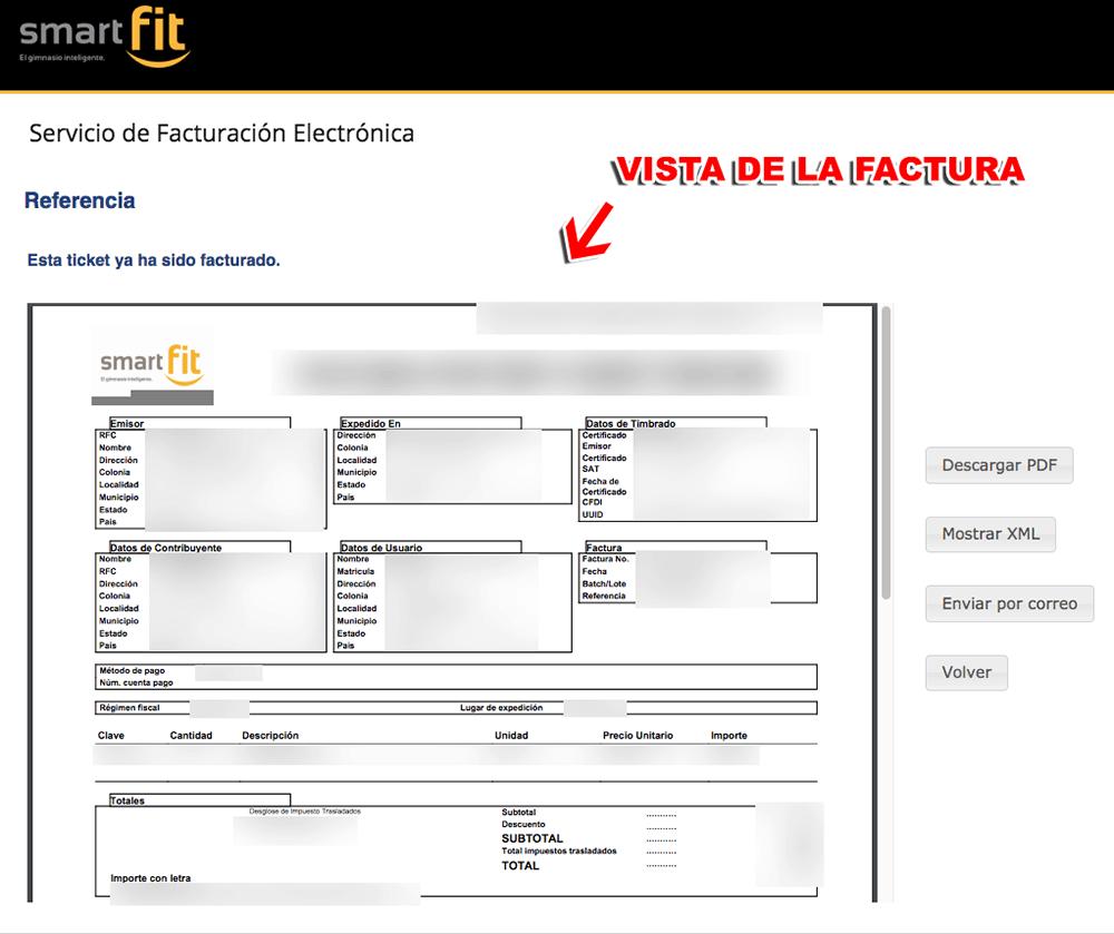 Smart Fit Paso 3  Captura de datos y facturación
