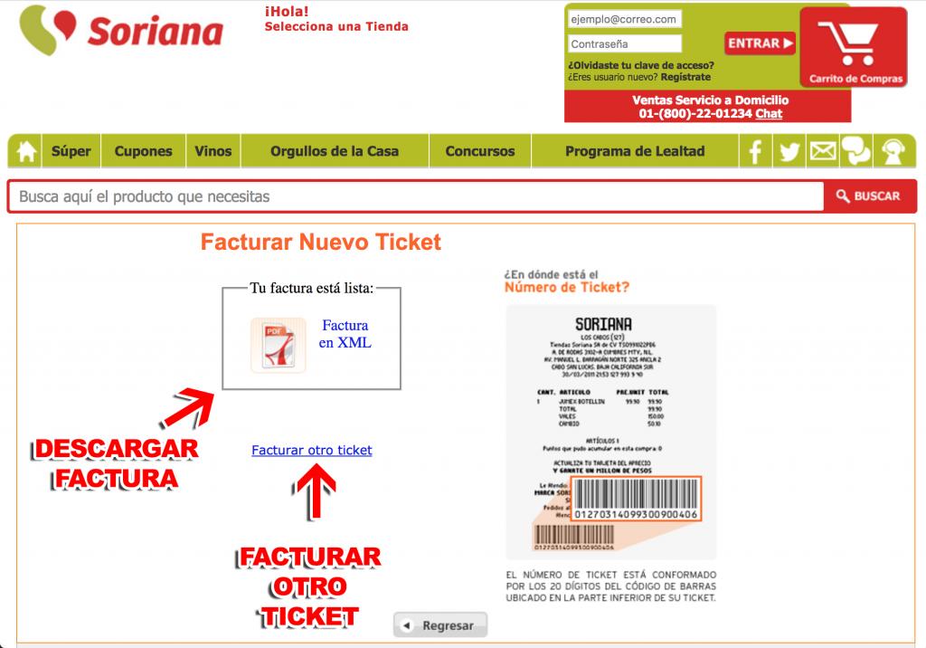 Soriana Paso 3  Descarga de factura