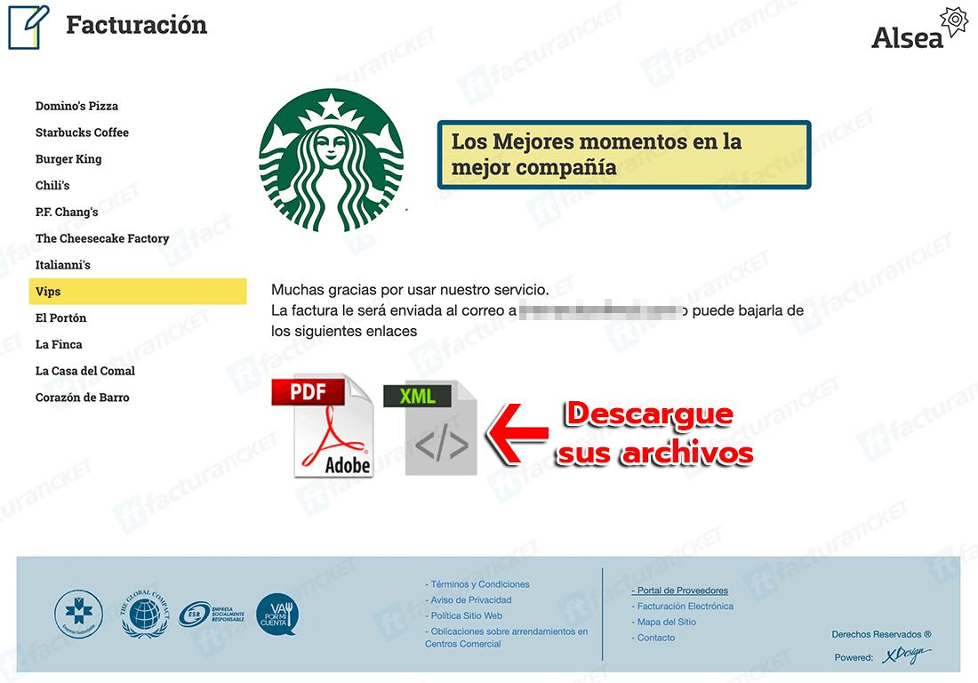Starbucks Paso 3  Descarguesu factura.