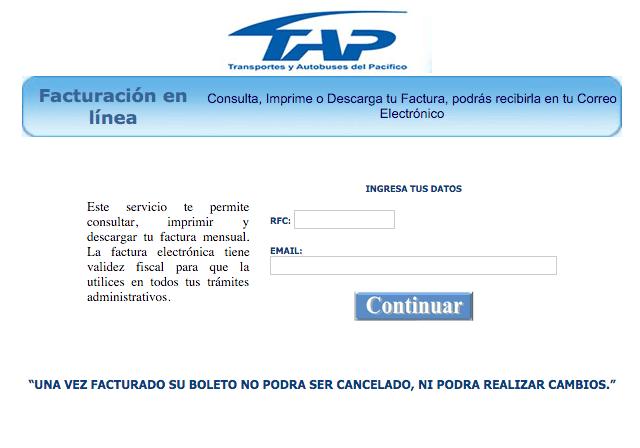TAP  Paso 1 – Ingrese al Sistema.
