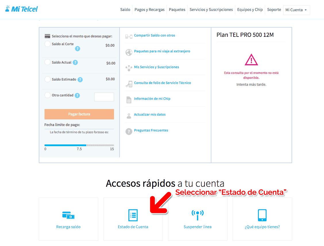 """Telcel Paso 1  Obtener factura en portal """"mitelcel.com"""" (Con Registro)"""