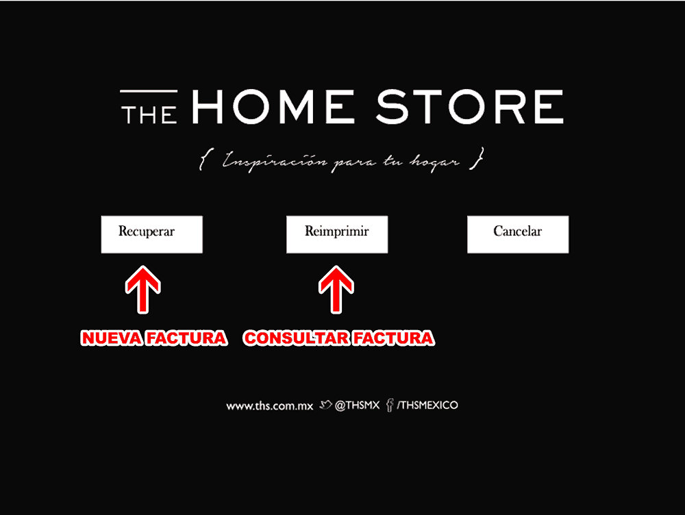The Home Store Paso 1  Datos de compra