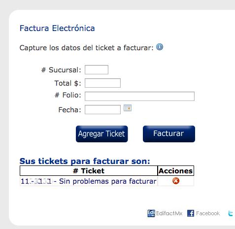 Tiendas Extra Paso 1Capture Datos del Ticket