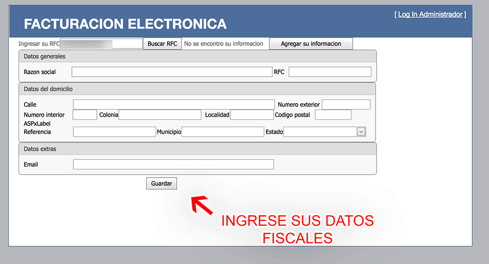 Timexcard Paso 2  Capture sus datos