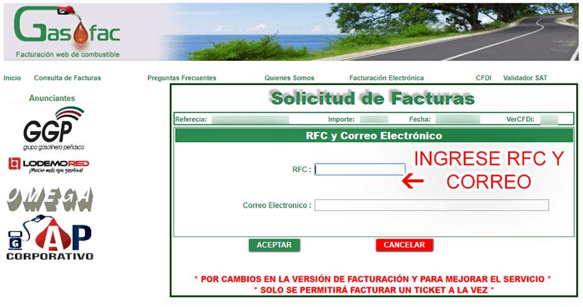 Total Gasolineras Paso 2  Captura de datos fiscales