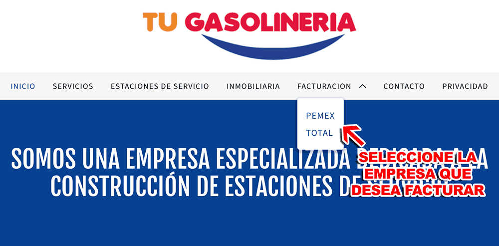 Tu Gasolineria Paso 1  Selección de Estación de Servicio