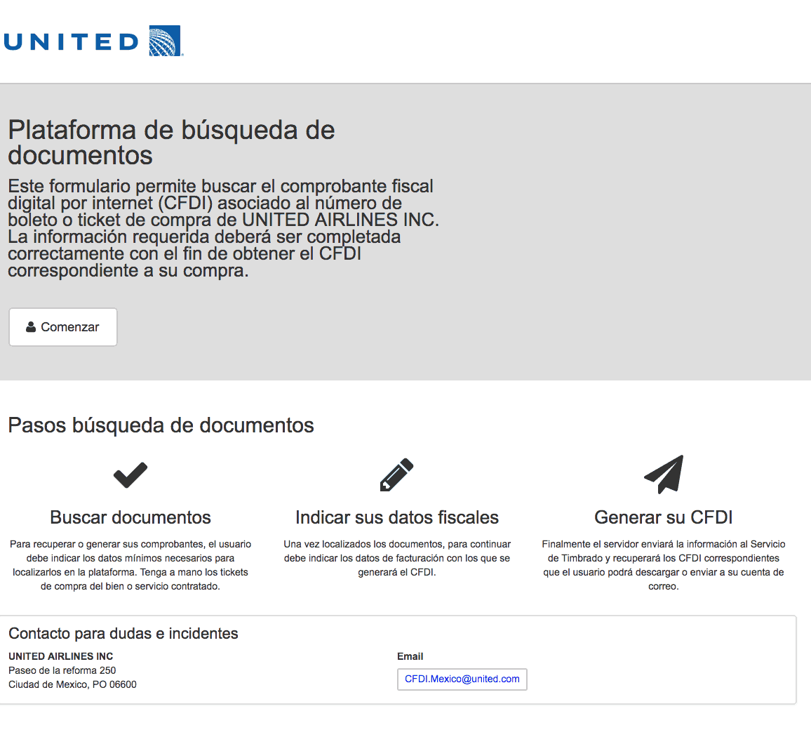 UNITED AIRLINES  Paso 1  Captura de datos