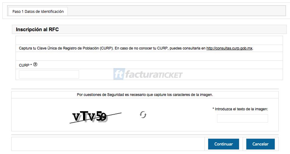 Cómo saber mi clave correcta del RFC en el SAT Paso 2 – Capturar nuestro CURP