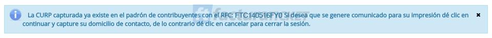 Cómo saber mi clave correcta del RFC en el SAT Paso 3 – Revisar notificación de Registro o Iniciar el Registro