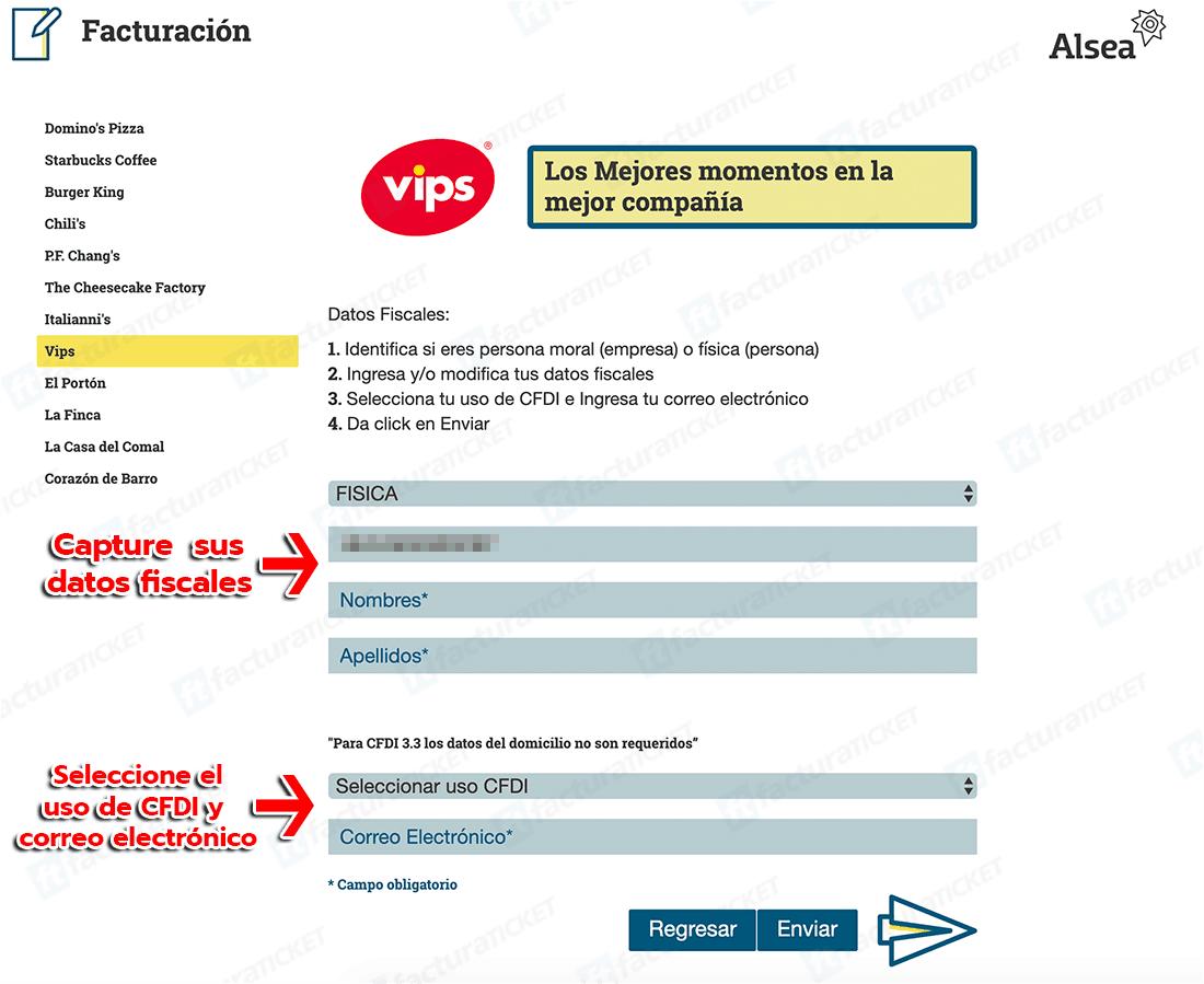 Vips Paso 2  Capture Datos de RFC