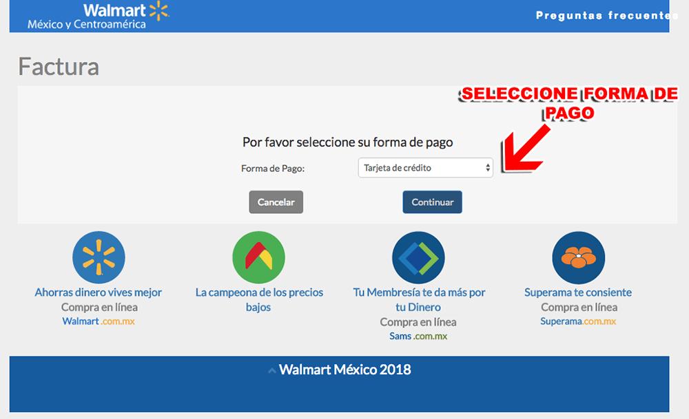 Walmart Paso 2  Captura de datos fiscales