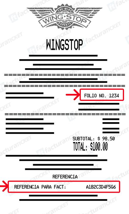 Wingstop Paso 1  Captura de RFC y datos de compra