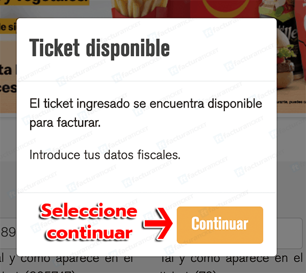 McDonalds Paso 2 Verificar Datos